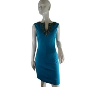 Trina Turk Dress Turquoise Size 2 (SKU 000238-1)